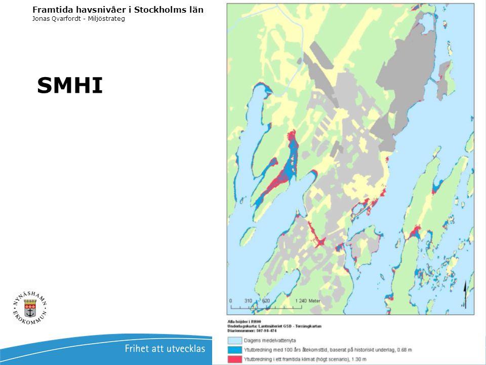 SMHI Framtida havsnivåer i Stockholms län