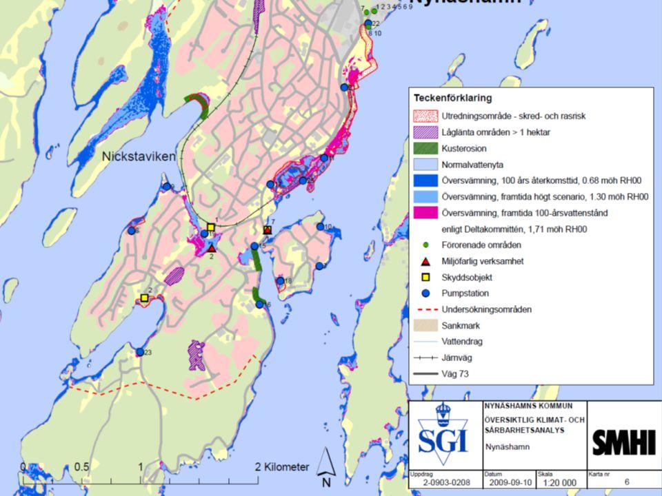 Framtida havsnivåer i Stockholms län
