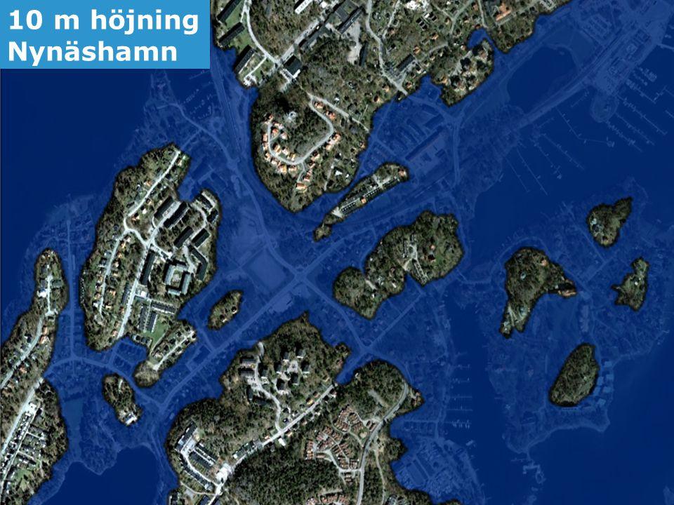 10 m höjning Nynäshamn Framtida havsnivåer i Stockholms län