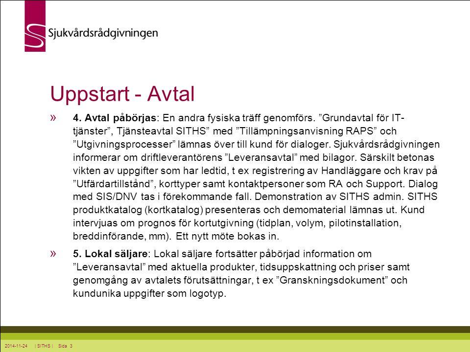 Uppstart - Avtal