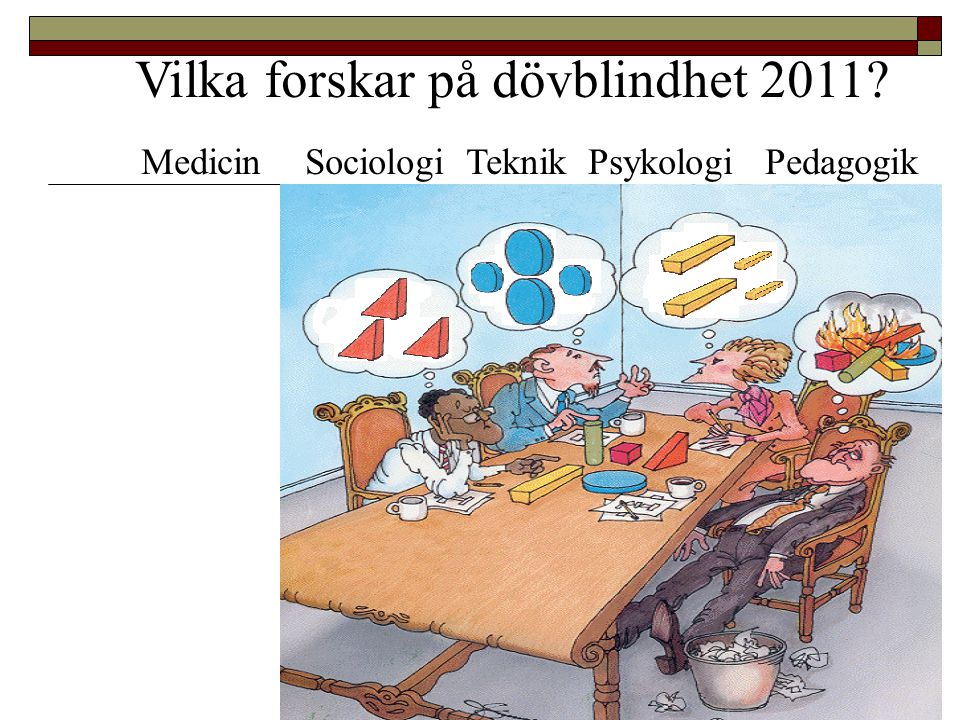Vilka forskar på dövblindhet 2011