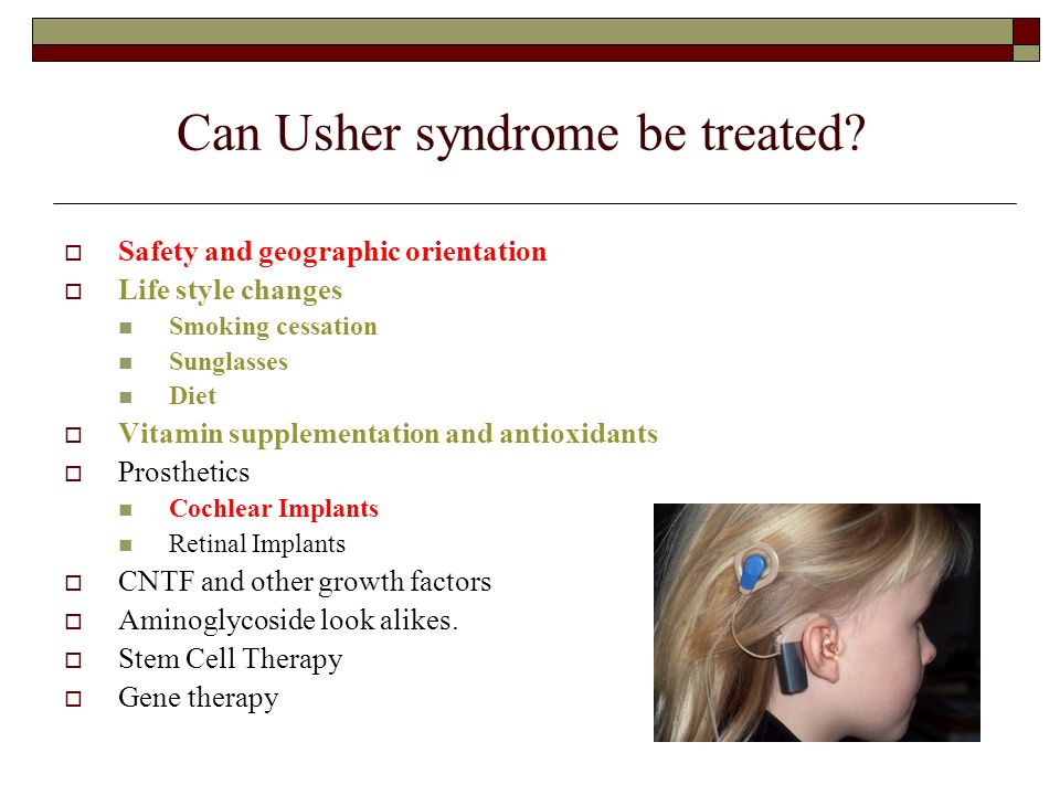 Can Usher syndrome be treated