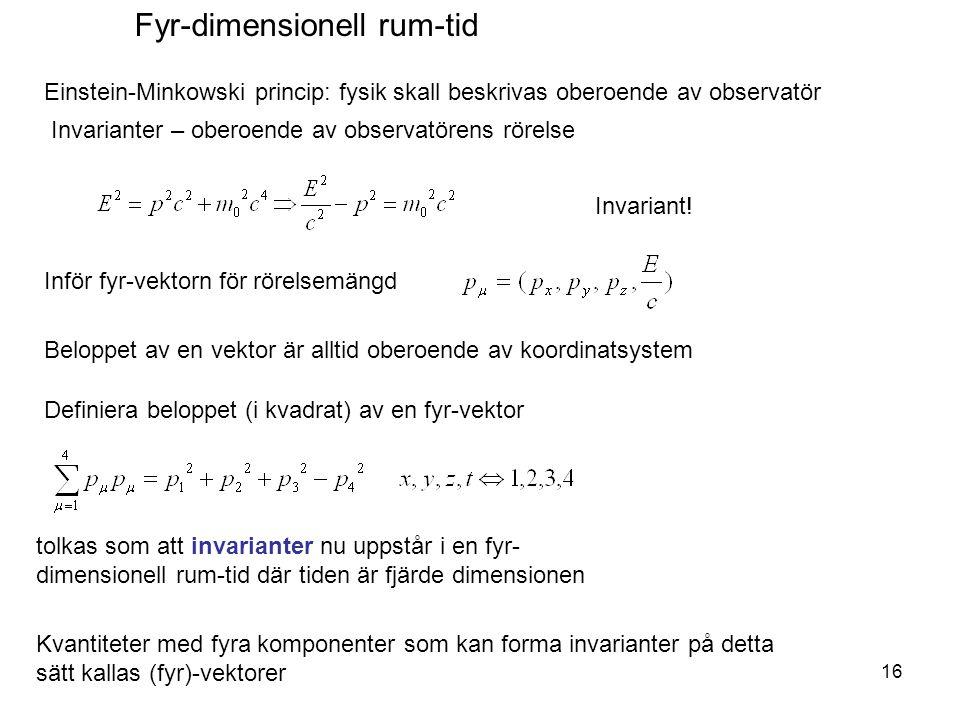 Fyr-dimensionell rum-tid