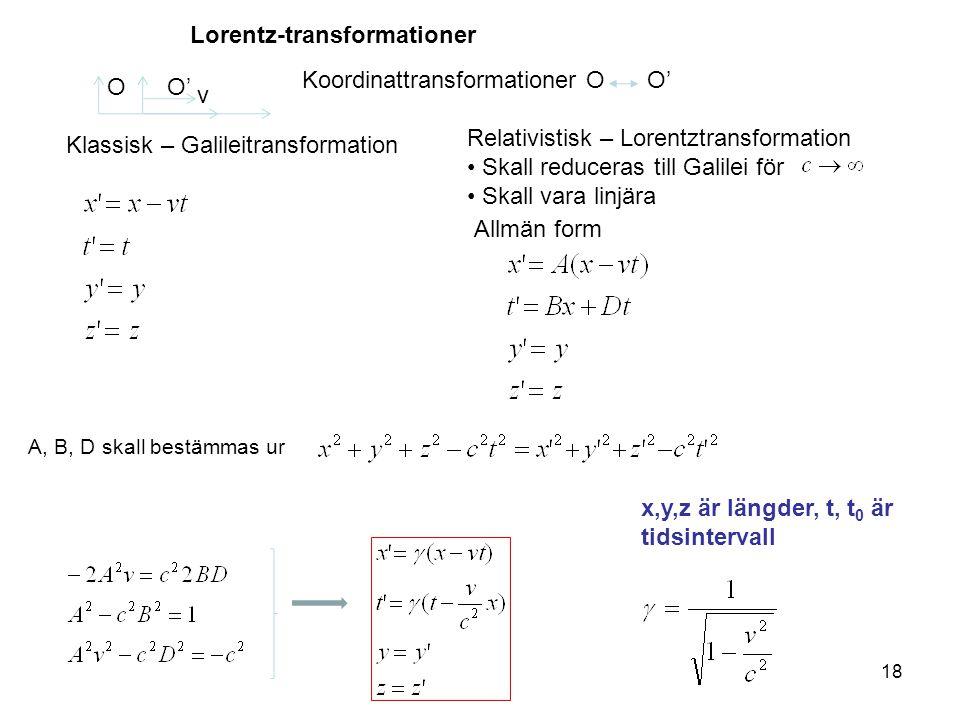 Lorentz-transformationer