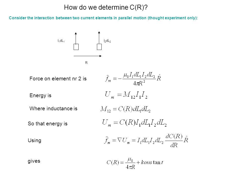 How do we determine C(R)