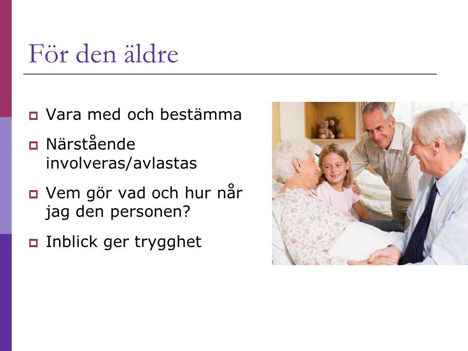 För den äldre Vara med och bestämma Närstående involveras/avlastas