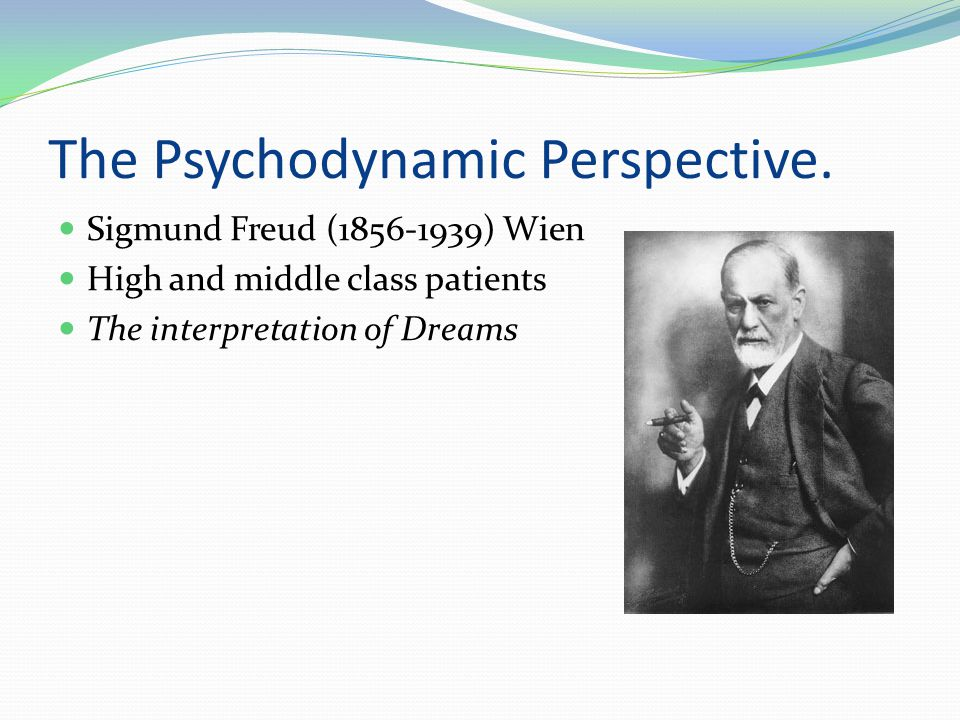 The Psychodynamic Perspective.