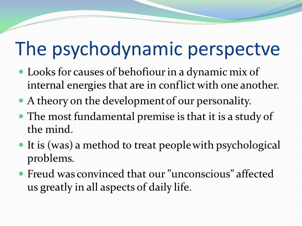 The psychodynamic perspectve