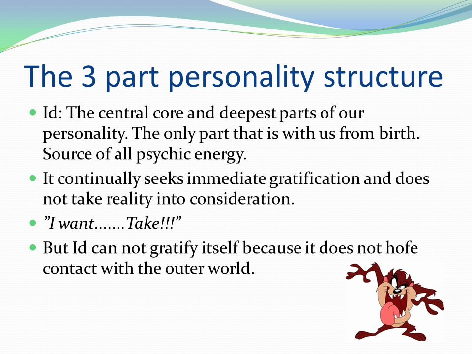 The 3 part personality structure