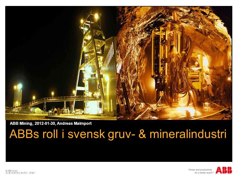 ABBs roll i svensk gruv- & mineralindustri