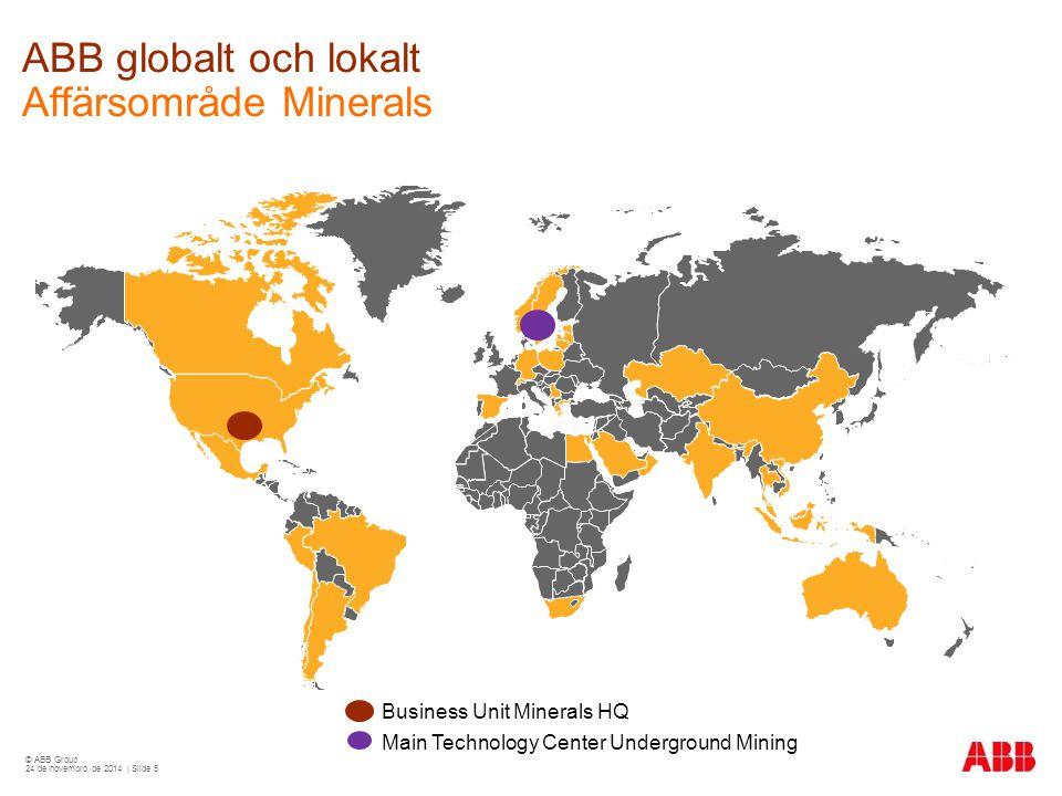 ABB globalt och lokalt Affärsområde Minerals