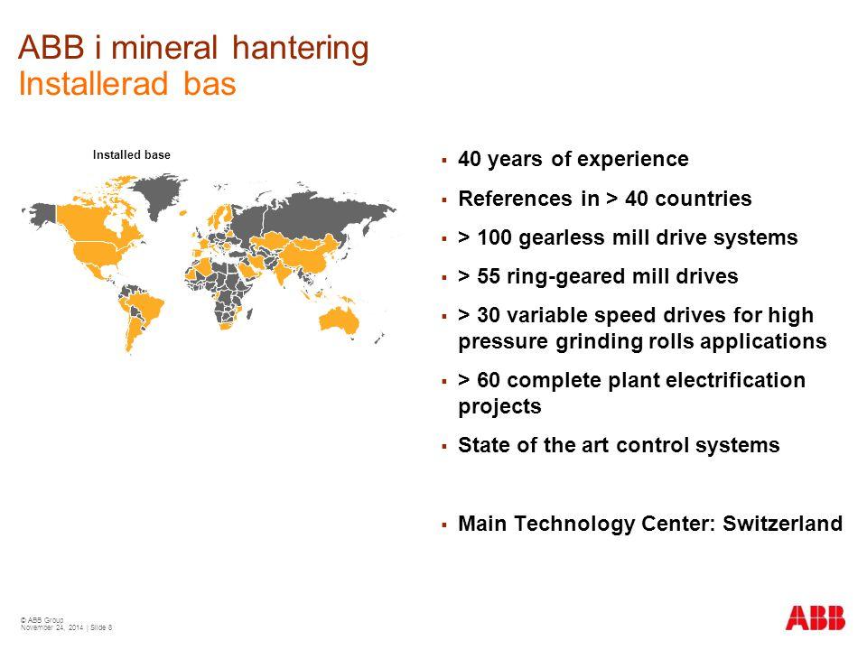ABB i mineral hantering Installerad bas