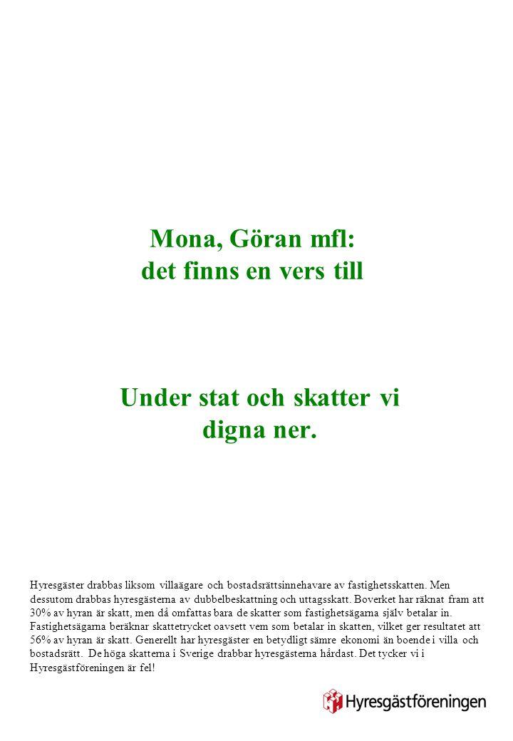 Mona, Göran mfl: det finns en vers till