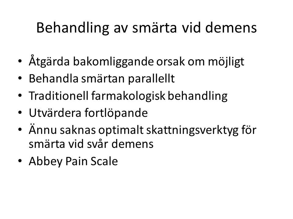 Behandling av smärta vid demens