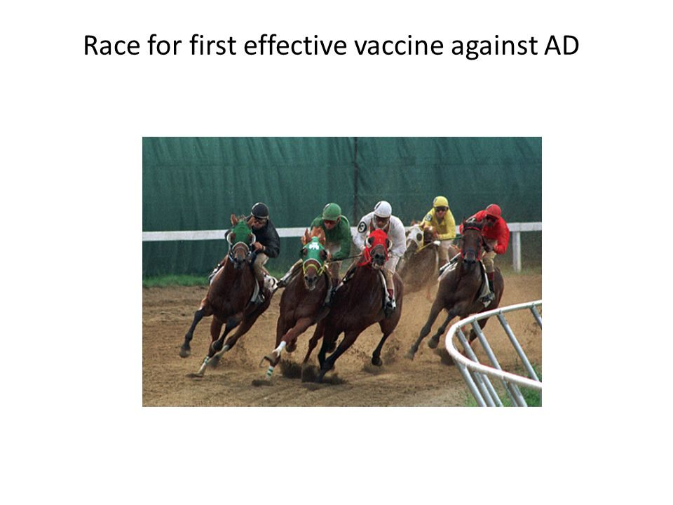 Race for first effective vaccine against AD