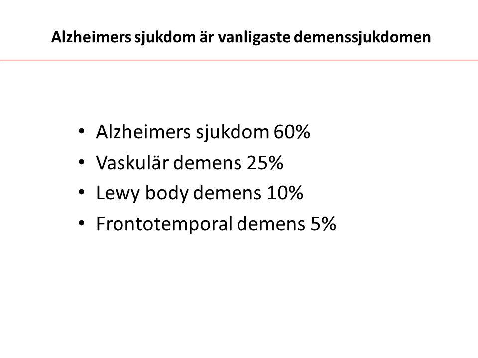 Alzheimers sjukdom är vanligaste demenssjukdomen