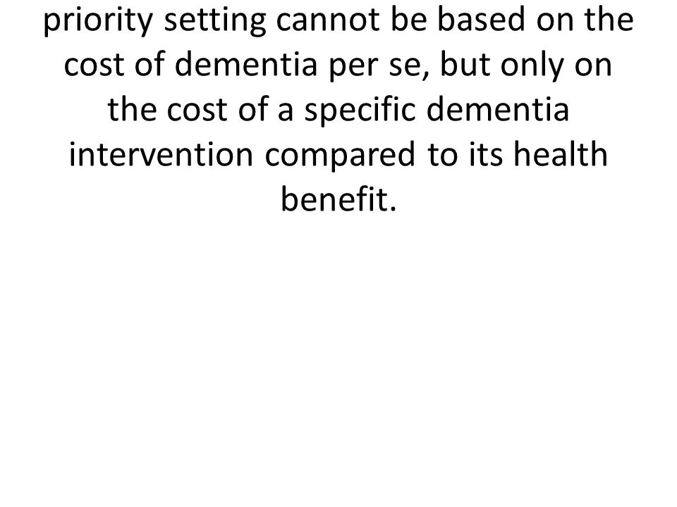 Costs of dementia in denmarkDKK 77,000 per person per year