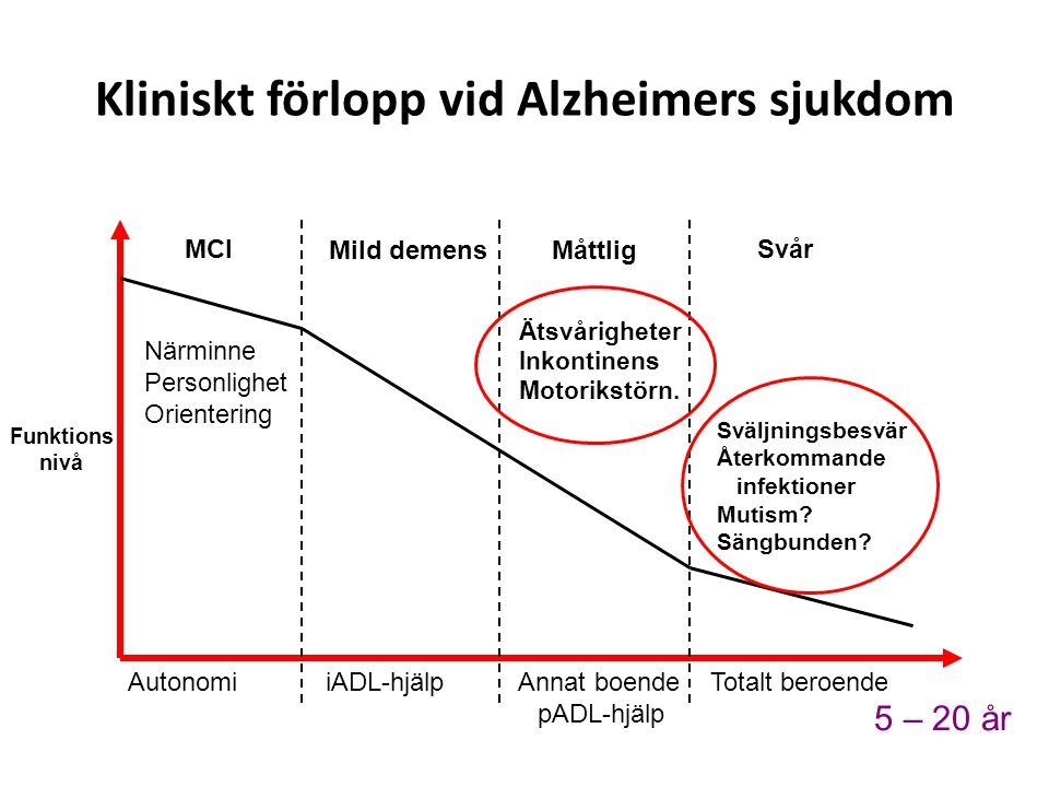 Kliniskt förlopp vid Alzheimers sjukdom