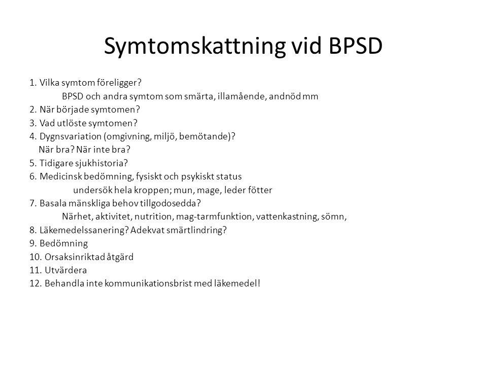 Symtomskattning vid BPSD