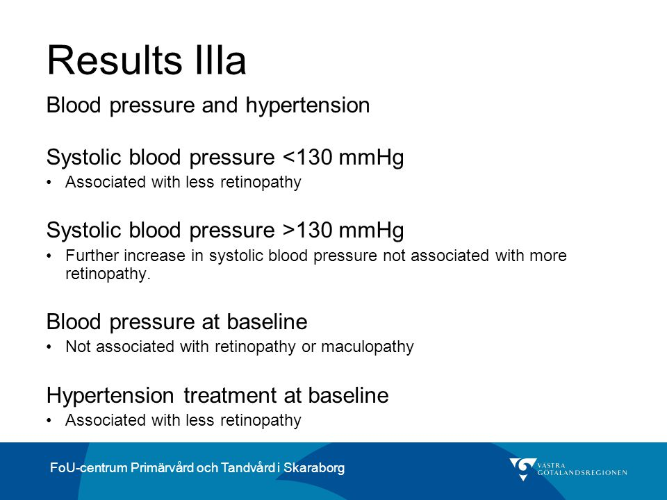Results IIIa Blood pressure and hypertension