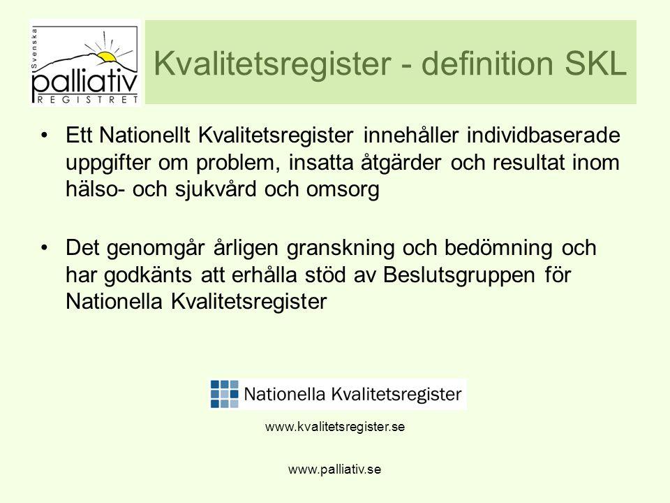 Kvalitetsregister - definition SKL