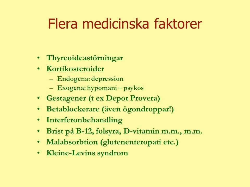 Flera medicinska faktorer