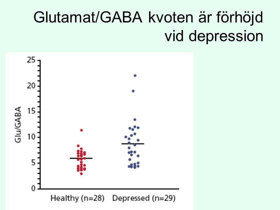 Glutamat/GABA kvoten är förhöjd vid depression
