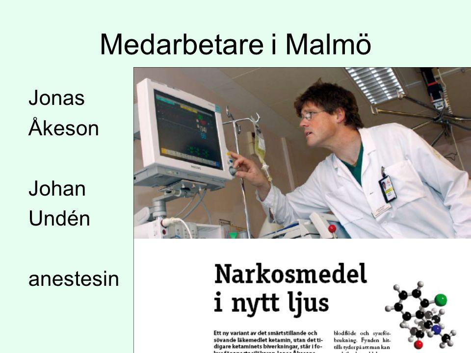 Medarbetare i Malmö Jonas Åkeson Johan Undén anestesin