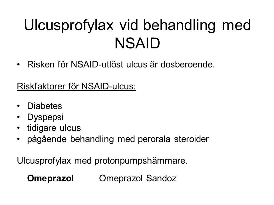 Ulcusprofylax vid behandling med NSAID