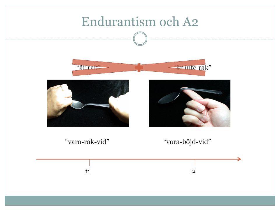 Endurantism och A2 är rak är inte rak vara-rak-vid