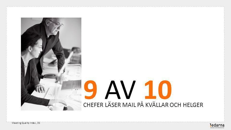 9 AV 10 CHEFER LÄSER MAIL PÅ KVÄLLAR OCH HELGER