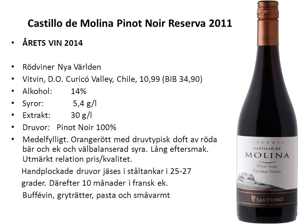 Castillo de Molina Pinot Noir Reserva 2011