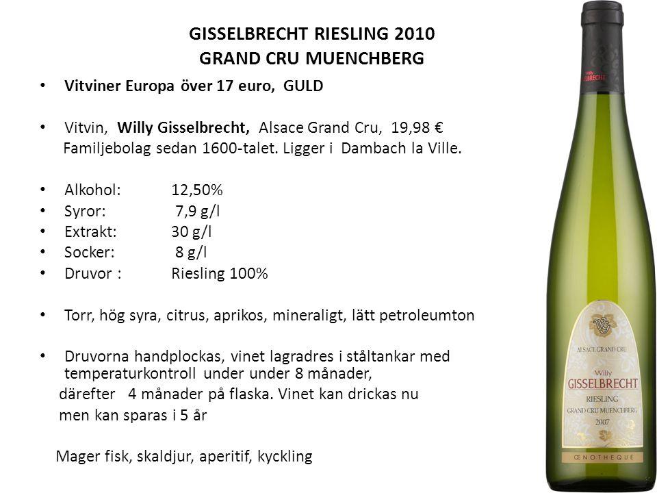 GISSELBRECHT RIESLING 2010 GRAND CRU MUENCHBERG