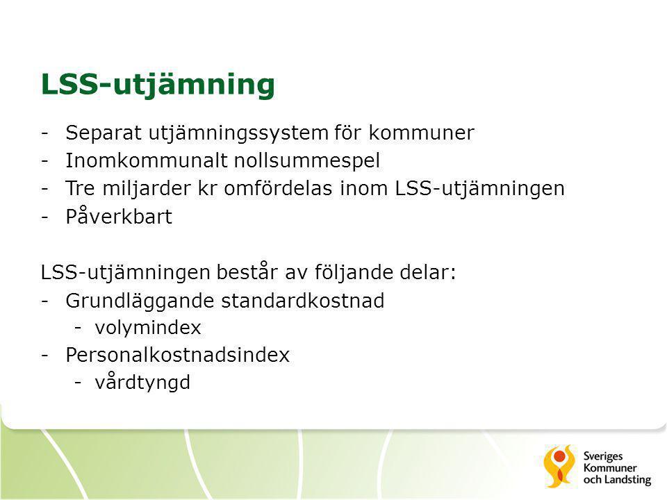 LSS-utjämning Separat utjämningssystem för kommuner