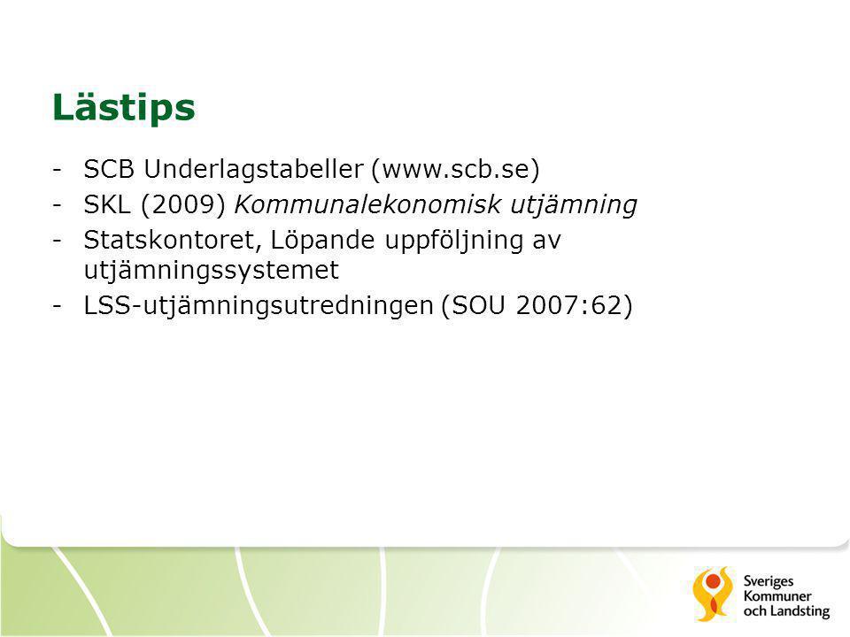 Lästips SCB Underlagstabeller (www.scb.se)