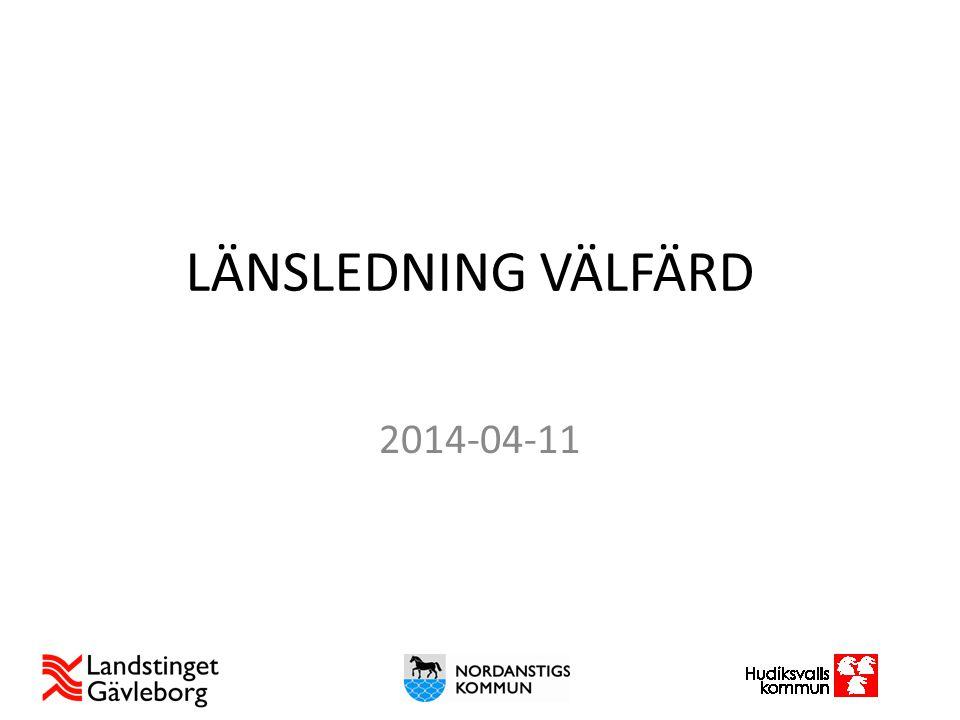 LÄNSLEDNING VÄLFÄRD 2014-04-11 Presentationen ger en bild av: