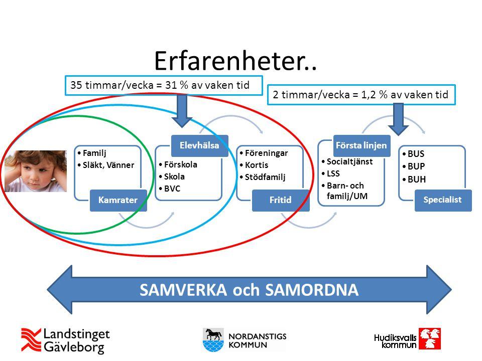 Erfarenheter.. SAMVERKA och SAMORDNA