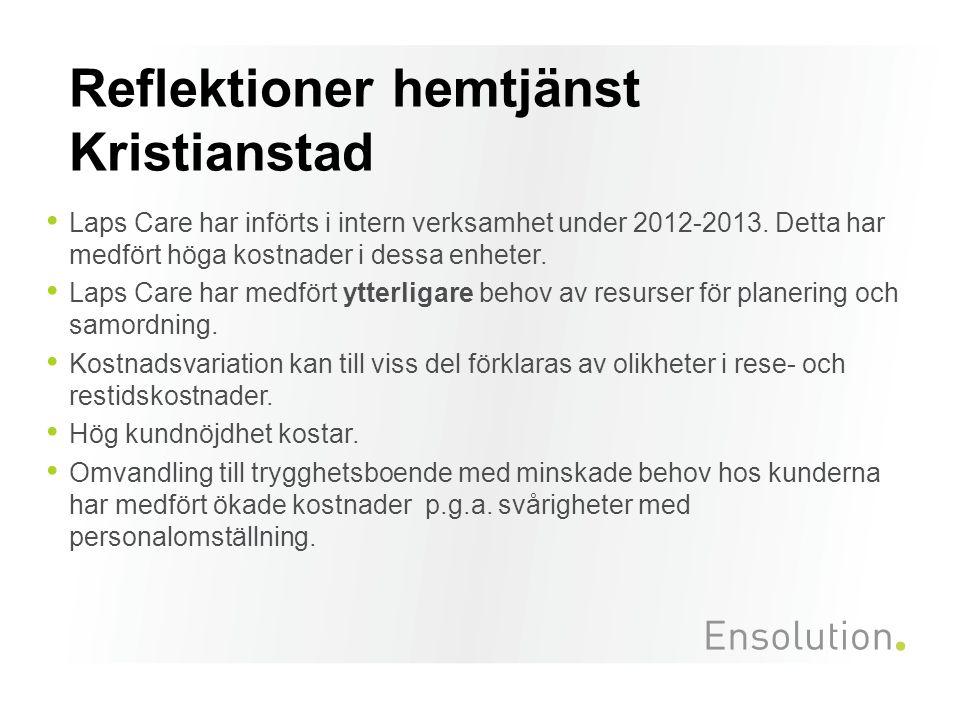 Reflektioner hemtjänst Kristianstad