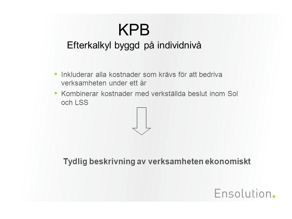 KPB Efterkalkyl byggd på individnivå