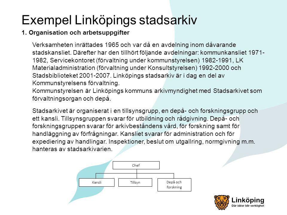 Exempel Linköpings stadsarkiv