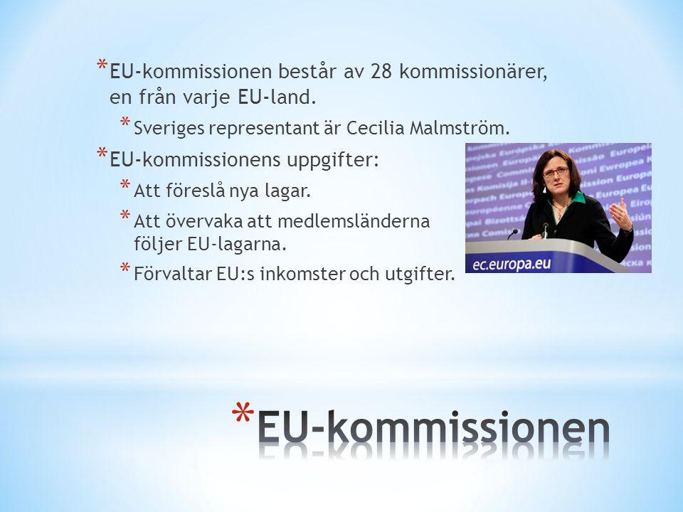EU-kommissionen består av 28 kommissionärer, en från varje EU-land.
