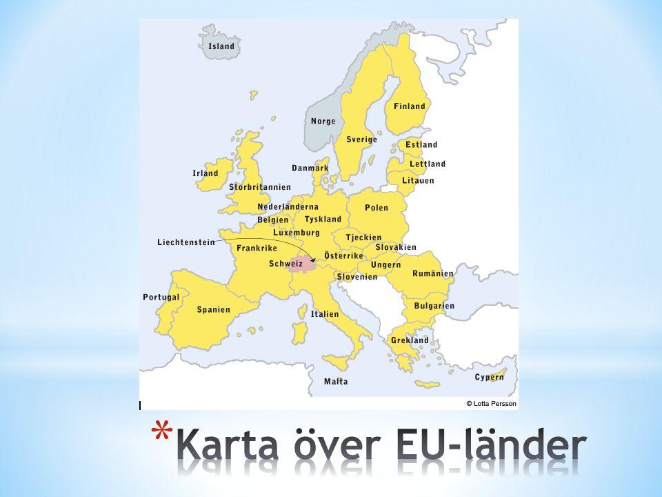 Karta över EU-länder