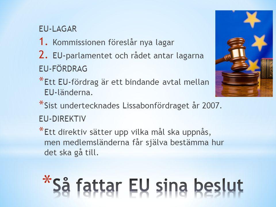 Så fattar EU sina beslut