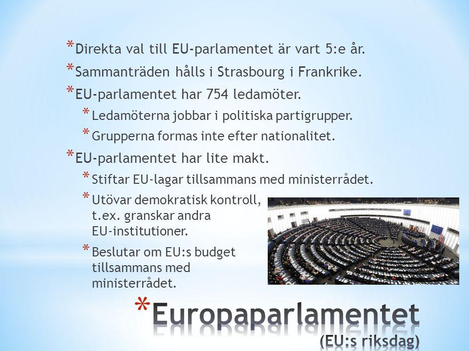 Europaparlamentet (EU:s riksdag)