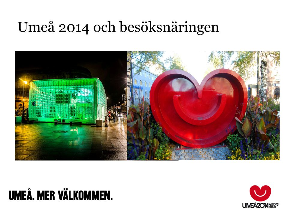 Umeå 2014 och besöksnäringen