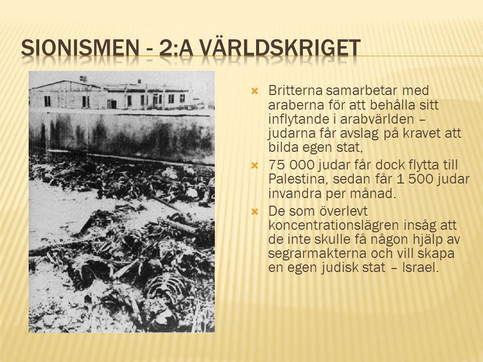 Sionismen - 2:a VÄrldskriget