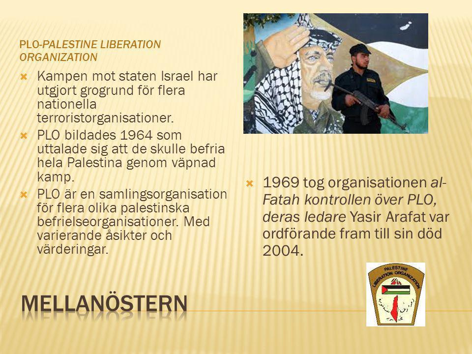 PLO-Palestine Liberation Organization