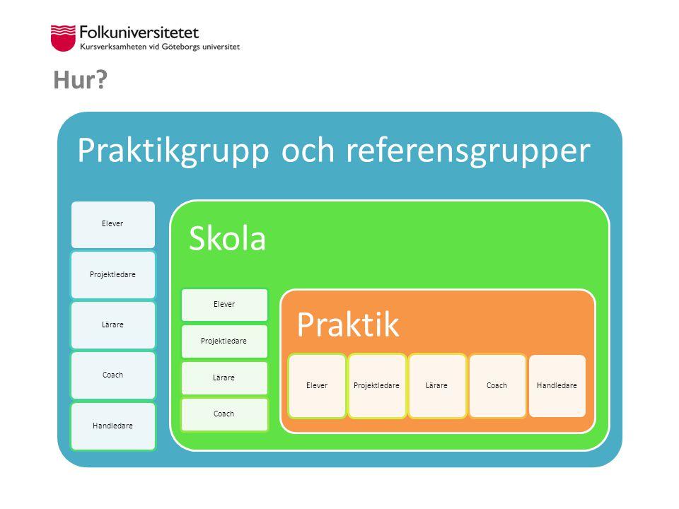 Praktikgrupp och referensgrupper