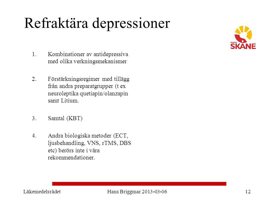 Refraktära depressioner