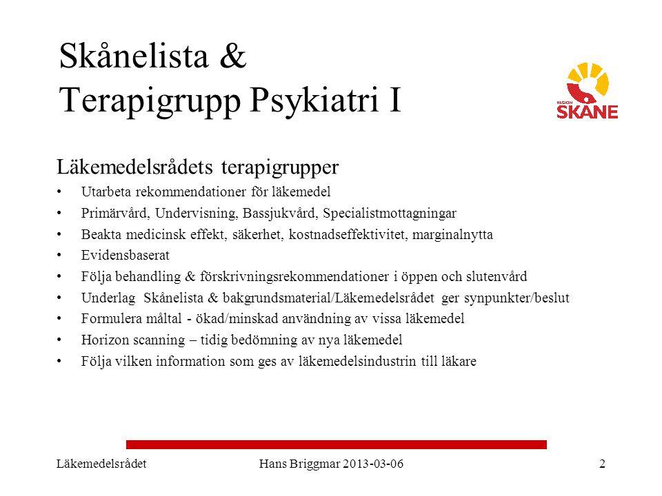Skånelista & Terapigrupp Psykiatri I